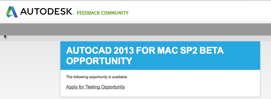 AutoCAD 2013 para Mac SP2 Beta 1