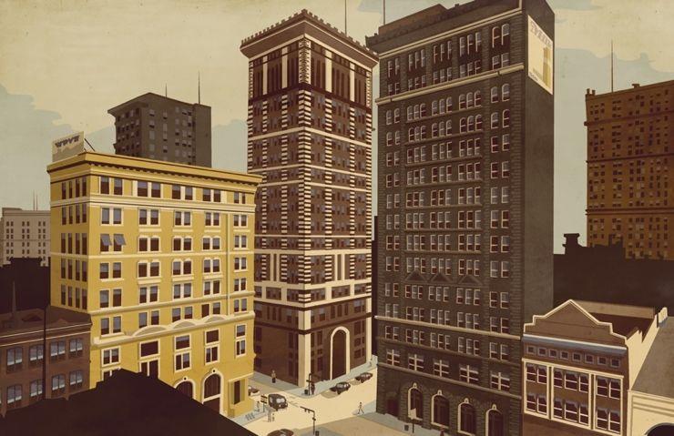 Arquitectura y ciudad en las ilustraciones de Giordano Poloni