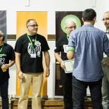 Charrando de Tebeos, La Viñeta, Juan, el Presidente de la Asociación entregando los diplomas y La Órbita de Endor
