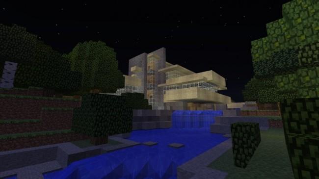 La Casa de la Cascada recreada en Minecraft